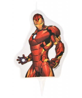 Bougie Iron Man 2D Marvel