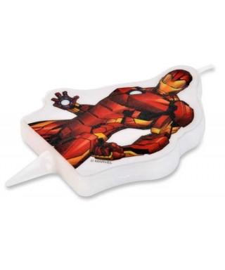 Bougie Iron Man 2D Marvel
