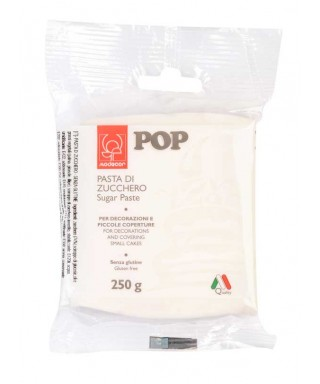 Pâte à sucre POP Blanche 250gr Modécor