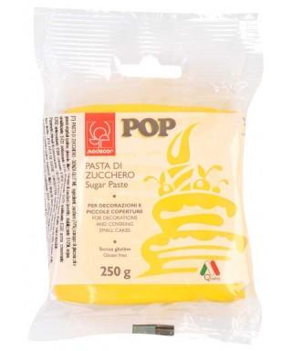 Pâte à sucre POP Jaune 250gr Modécor