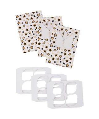 Boîte blanche à étoiles pour 4 Cupcakes Wilton pk/3