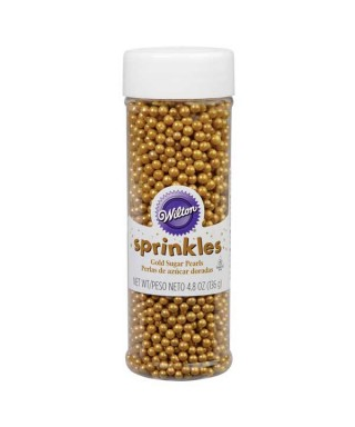 Flacon perles sucre Or brillant 136g Wilton
