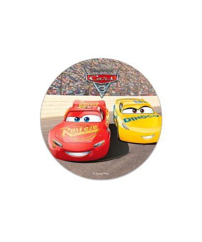 Disque pâte à sucre Cars 16cm Disney Pixar