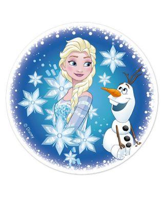 Disque pâte à sucre Elsa et Olaf Ø16cm la reine des neiges Disney