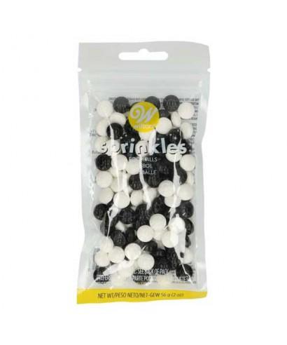 Sprinkles Football Noir et Blanc 56g Wilton