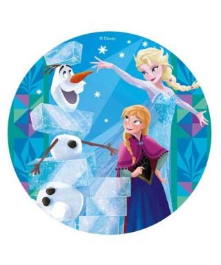 Disque azyme Anna et Elsa et Olaf la reine des neiges