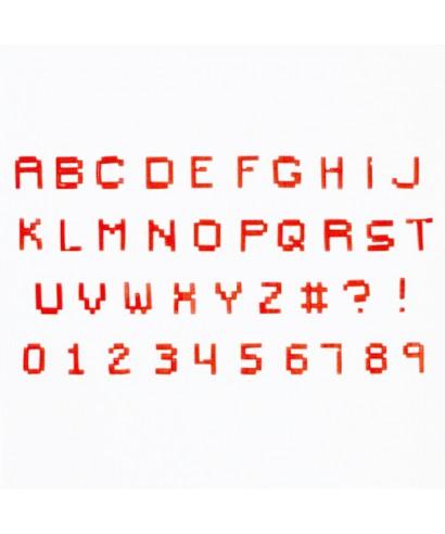 Lettres et chiffres tappits Pixel FMM Sugarcraft