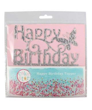 Cake Topper Happy Birthday Cake Star