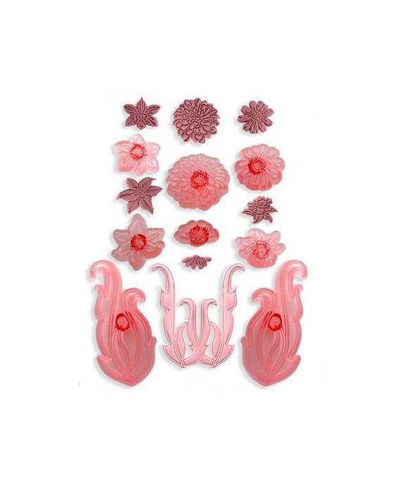 Emporte-pièce Parchemins et moulures florales set/8 JEM