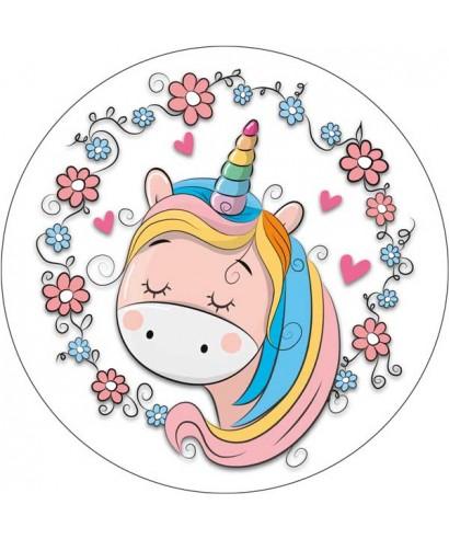 Disque p te sucre licorne crini re multicolore pour licorne a 4 00 - Image licorne ...