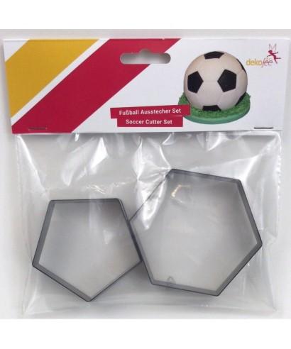Emporte-pièce Football 7 et 8,8 cm set/2