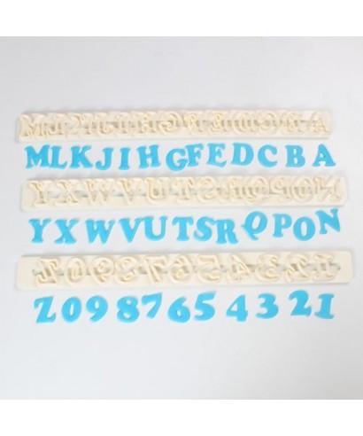 Lettres et chiffres Art Deco FMM Sugarcraft