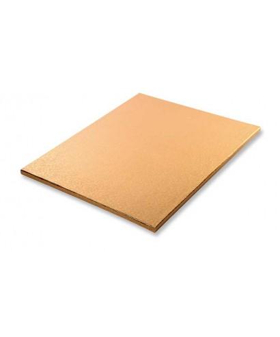 Plateau de présentation Or rectangulaire épais L30xL40xH1,2 CM