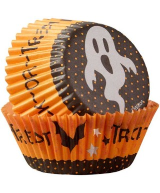 Caissettes cupcake Trick or Treat set/75 Wilton