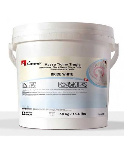 Sceau de Pâte à sucre Blanche Massa Ticino 7 kg