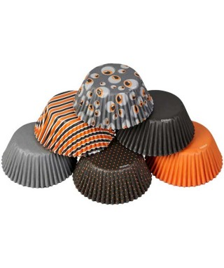 Caissettes cupcake Yeux Halloween set/50 Wilton