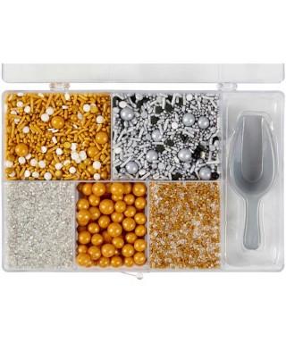 Perles, confettis et sucre Coffret métallique Wilton