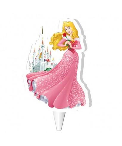 Bougie 2D Aurore et son château Disney Princesse