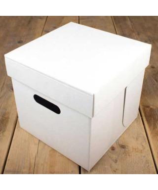Boîte à gâteaux Blanche 25.5x25.5x25cm FunCakes
