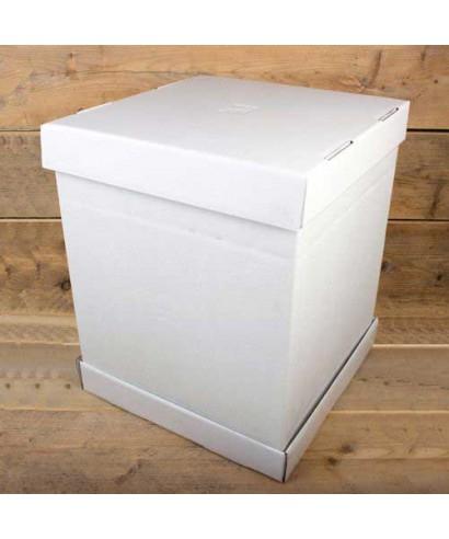 Boîte à gâteaux Blanche 37x37x45cm FunCakes
