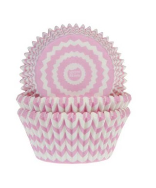 Caissette cupcake Rose Fanion garçon pk/50 House of Marie