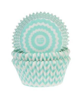 Caissette cupcake bleu Fanion pk/50 HoM