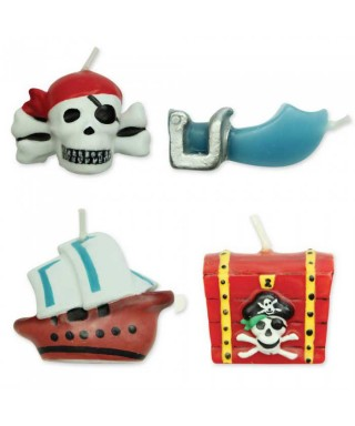 Bougie Pirate Set/4 PME
