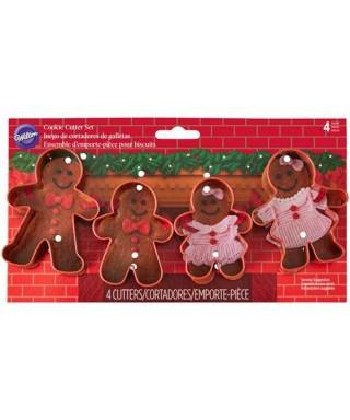 Emporte-pièce métal Gingerbread Set/4 Wilton