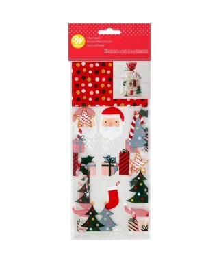 Sacs à bonbons et à biscuits Père Noël Wilton