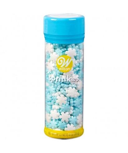 Sprinkles Flocons bleu et blanc Wilton