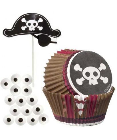 Caissettes Kit de Décoration Cupcake Pirate