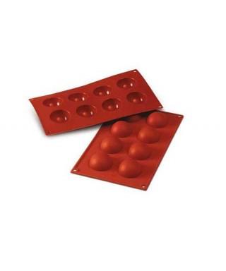 Moule plaque silicone demie-sphère ø50 H 25 MM Silikomart