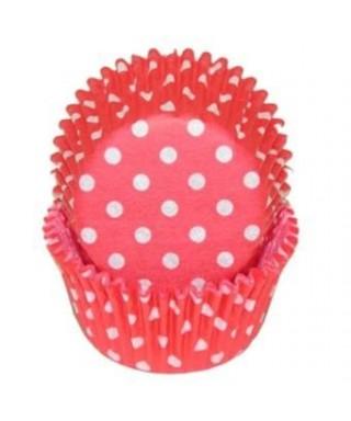 Mini caissette petit cupcake pois rouge PME