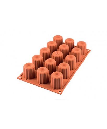 Moule plaque silicone MIDI CANNELÉ Silikomart
