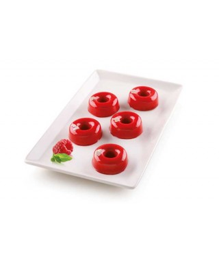Moule plaque silicone SMALL DONUTS Silikomart