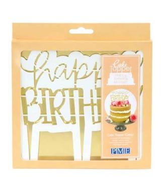 Emporte-pièce Topper Happy Birthday Moderne PME