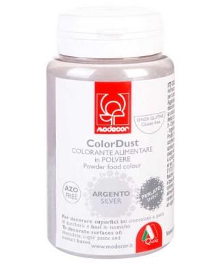 Colorant poudre comestibles Argent Brillant 25g