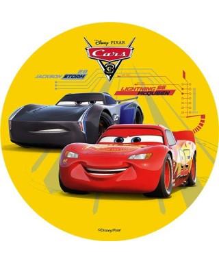 Disque azyme Cars 3 Flash Mcqueen et Jackson Storm Disney