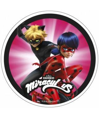 Disque azyme Miraculous Chat Noir et Ladybug