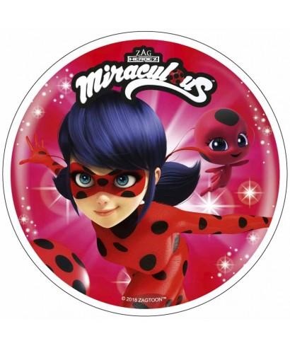 Disque azyme Miraculous Ladybug et Tikki