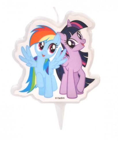Bougie Twilight Sparkle et Rainbow Dash My Little Pony