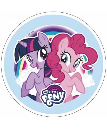 Disque pâte à sucre Pinkie Pie et Twilight Sparkle My little Pony