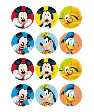 Minis Disques cupcakes Mickey Disney