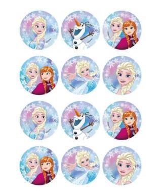 Mini disques à cupcake Elsa et Anna la reine des neiges Disney