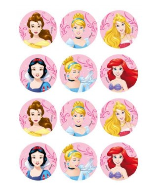 Mini disques à cupcake Princesse Disney