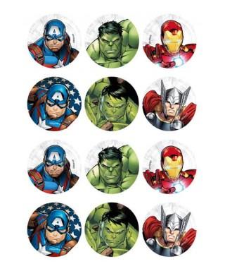 Mini Disque à cupcakes Avengers Marvel