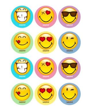 Mini disques à cupcake et biscuits Emoji