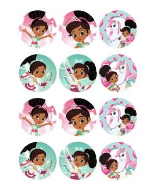 Mini disques à cupcake et biscuits Princesse Nella