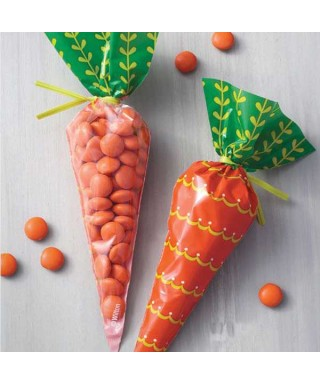 Sachets en forme de carotte pk/15 Wilton