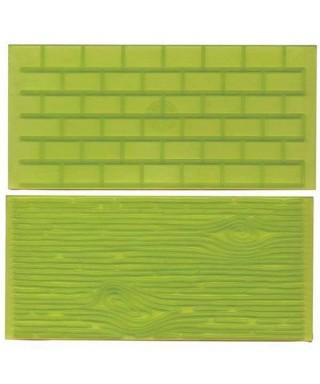 Tapis d'impression écorce d'arbre et mur de brique FMM Sugarcraft